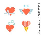wedding and gift icons set | Shutterstock .eps vector #1081227191