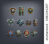set of fantasy shields armor...