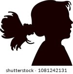 a girl head silhouette vector | Shutterstock .eps vector #1081242131