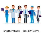 medical staff cartoon... | Shutterstock .eps vector #1081247891