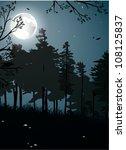 night forest landscape | Shutterstock .eps vector #108125837