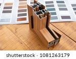 aluminum window with sample...   Shutterstock . vector #1081263179