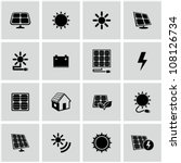 solar energy icons set. | Shutterstock .eps vector #108126734