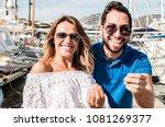 young italian couple gesturing. ... | Shutterstock . vector #1081269377