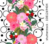 seamless pattern with cute... | Shutterstock .eps vector #1081269404