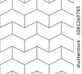 seamless mosaic pattern. zigzag ... | Shutterstock .eps vector #1081269785