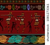 shamanic magic dance. seamless... | Shutterstock .eps vector #1081273361