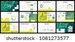 business presentation templates.... | Shutterstock .eps vector #1081273577