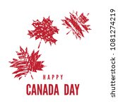 happy canada day   template...   Shutterstock .eps vector #1081274219