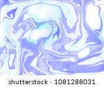 creative abstract hand painted... | Shutterstock . vector #1081288031