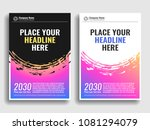 a collection of covers with... | Shutterstock .eps vector #1081294079