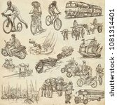 an hand drawn collection of... | Shutterstock . vector #1081314401