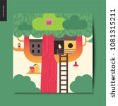 simple things   tree house   a... | Shutterstock .eps vector #1081315211