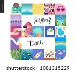 simple things   vacation on... | Shutterstock .eps vector #1081315229