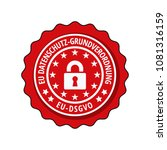eu dsgvo illustration label | Shutterstock .eps vector #1081316159