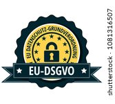 eu dsgvo illustration label | Shutterstock .eps vector #1081316507