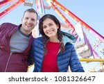portrait of joyful couple in... | Shutterstock . vector #1081326647