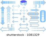 dotted arrows   fully editable... | Shutterstock .eps vector #1081329