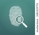 id fingerprint icon with... | Shutterstock .eps vector #1081329791