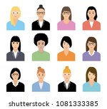 people icons set. team concept. ... | Shutterstock .eps vector #1081333385
