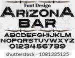 vintage font alphabet...   Shutterstock .eps vector #1081335125