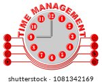 time management thema with... | Shutterstock .eps vector #1081342169