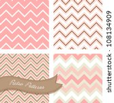 a set of seamless retro zig zag ... | Shutterstock .eps vector #108134909