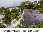 the waterfalls iguazu. travel... | Shutterstock . vector #1081352834
