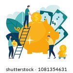 vector flat illustration  a... | Shutterstock .eps vector #1081354631