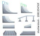 set of ramp  roller  stairs for ... | Shutterstock .eps vector #1081354769