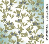 olive seamlless pattern digital ... | Shutterstock . vector #1081362821