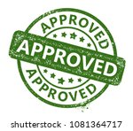 approved rubber stamp   Shutterstock .eps vector #1081364717