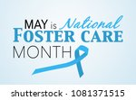 may is national foster care... | Shutterstock . vector #1081371515