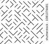 diagonal lines and shapes... | Shutterstock .eps vector #1081376681