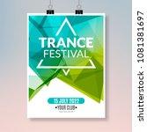 trance dance music poster.... | Shutterstock .eps vector #1081381697