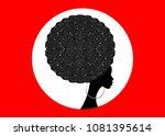 portrait african women... | Shutterstock .eps vector #1081395614