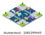 car accident and crash  vector... | Shutterstock .eps vector #1081399445