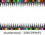 set of colored pencils from... | Shutterstock . vector #1081399691