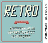 retro font and alphabet.... | Shutterstock .eps vector #1081402571