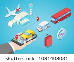 airport transfer  vector... | Shutterstock .eps vector #1081408031