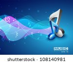 3d Musical Note On Colorful...