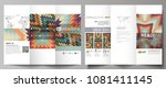 tri fold brochure business... | Shutterstock .eps vector #1081411145