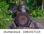 rusted garbage old engine.   Shutterstock . vector #1081417115
