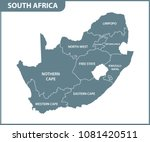 the detailed map of south... | Shutterstock .eps vector #1081420511