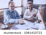 mature businessman and young... | Shutterstock . vector #1081423721