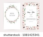 vector invitation with handmade ... | Shutterstock .eps vector #1081425341