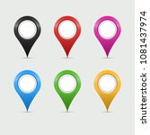 multicolored map markers or...