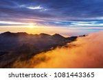 beautiful sunrise scene  on ... | Shutterstock . vector #1081443365