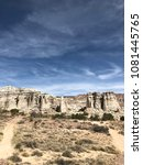 Small photo of Plaza Blanca New Mexico Rock Formation Abiquiu Blue Sky Nature Desert Rock Travel White Clouds Geology Outdoor Landscape Dramatic Beautiful Southwest Scenery