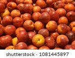 fruit wallpaper  pile of fruit   Shutterstock . vector #1081445897